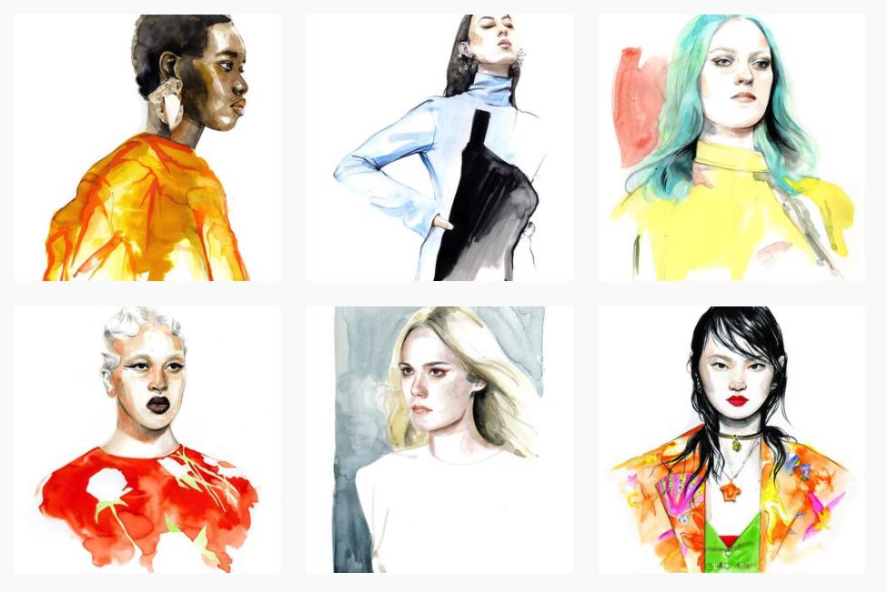 Caroline Andrieu Illustrator / Art director / Previously, Vogue Paris, GQ & Glamour